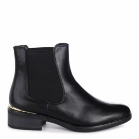 LANI - Black Nappa Classic Slip On Chelsea Boot