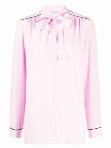 Emilio Pucci piped trims long sleeve blouse - PINK