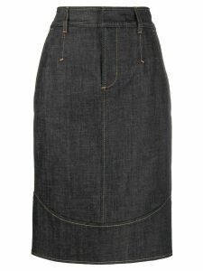 Dsquared2 straight fit pencil skirt - Blue