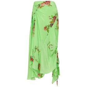 Preen Line Arya Floral-print Crepe De Chine Midi Skirt