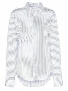 Delada spliced striped cotton-poplin shirt - White