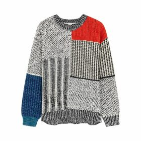 Stella McCartney Panelled Textured-knit Jumper