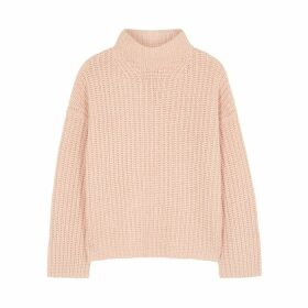 Vince Light Pink Chunky-knit Wool-blend Jumper