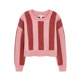 Wildfox Giselda Striped Metallic-weave Jumper