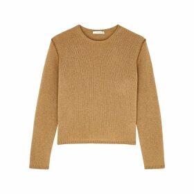 THE ROW Imani Brown Fine-knit Cashmere Jumper