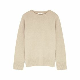 THE ROW Sibel Ecru Wool-blend Jumper