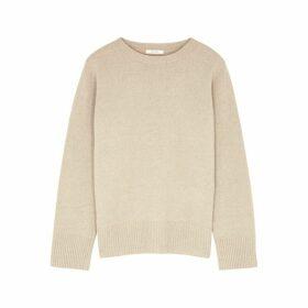 THE ROW Sibel Ecru Wool-blend Jumper
