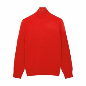 Tory Burch Gemini Link Red Merino Wool Jumper