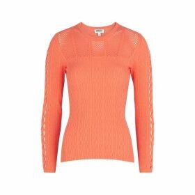 Kenzo Orange Stretch-knit Jumper