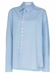 Delada off-centre button fastening shirt - Blue