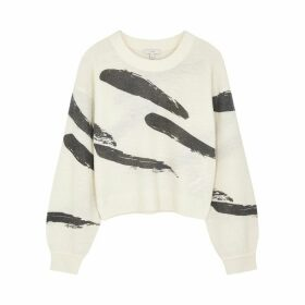 Joie Hassina Cream Printed Jumper