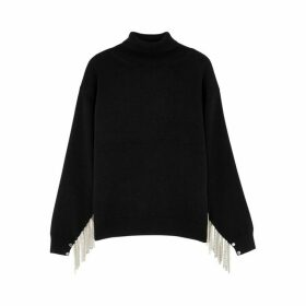 Christopher Kane Black Chain Tassel Wool-blend Jumper