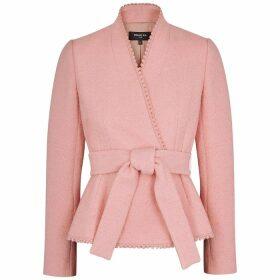 Paule Ka Rose Belted Bouclé-knit Jacket