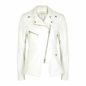 Veronica Beard Scuba Hadley White Stretch-cady Jacket