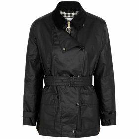 Barbour X Alexa Chung Agatha Black Waxed Cotton Jacket