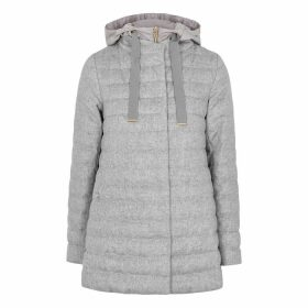 Herno Light Grey Quilted Silk-blend Jacket
