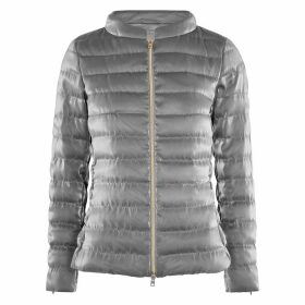 Herno Silver Quilted Satin Jacket