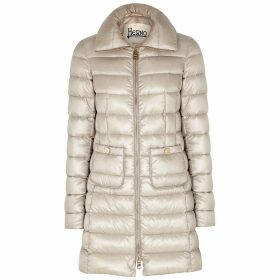 Herno Icon Stone Quilted Shell Coat