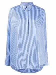 Frenken oversized striped print shirt - Blue