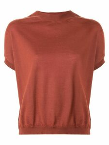 Marni short-sleeve knitted top - Red