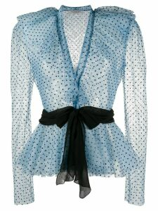 Philosophy Di Lorenzo Serafini chiffon polka dot print blouse - Blue