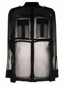 Tom Ford sheer long-sleeve pocket shirt - Black
