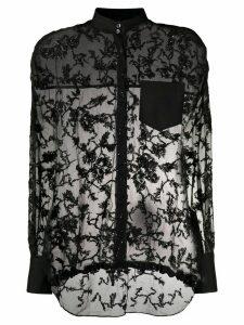Brunello Cucinelli sheer beaded blouse - Black