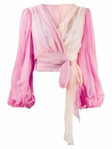 Dolce & Gabbana draped wrap blouse - PINK
