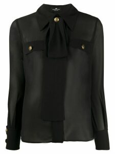 Elisabetta Franchi sheer tailored blouse - Black