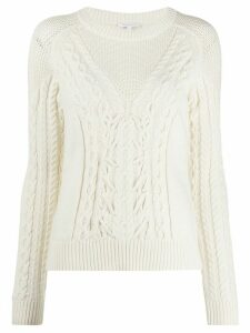 Patrizia Pepe cable knit jumper - NEUTRALS