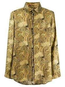 Uma Wang long sleeve printed shirt - Green