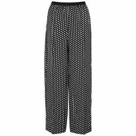 Plan C Black Polka-dot Satin Trousers