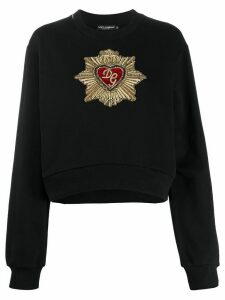 Dolce & Gabbana heart embellishment sweatshirt - Black