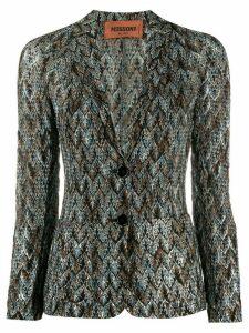 Missoni jacquard-effect fitted jacket - Black