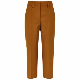 Acne Studios Brown Cropped Canvas Trousers