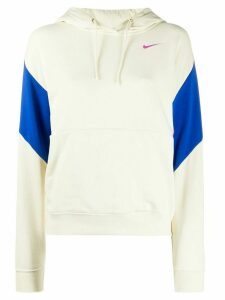 Nike colour-block relaxed-fit hoodie - NEUTRALS