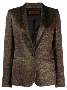 Missoni metallic-effect fitted jacket - GOLD