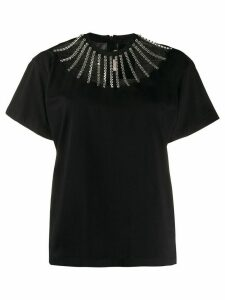 Christopher Kane embellished cut out T-shirt - Black