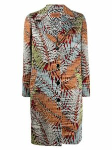Missoni jungle-pattern single-breasted coat - White