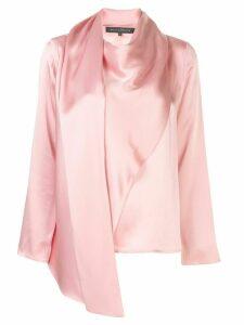 Sally Lapointe asymmetric draped blouse - PINK