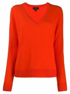 Theory V-neck fine knit jumper - ORANGE