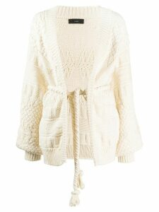 Saloni chunky-knit cardigan - NEUTRALS