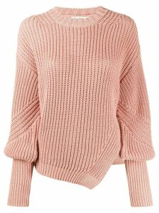Ulla Johnson chunky-knit asymmetric jumper - PINK