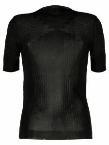 Paco Rabanne fine knit top - Black
