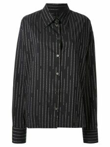 UNRAVEL PROJECT logo-stripe shirt - Black