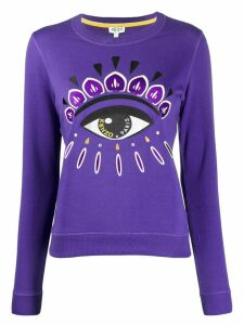 Kenzo Eye print crew neck sweatshirt - PURPLE