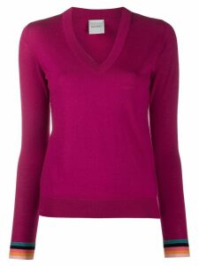 Paul Smith plain fitted jumper - PINK
