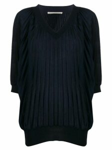 Marco De Vincenzo pleated glitter jumper - Blue