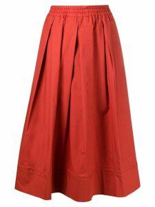 Fay box pleated A-line skirt - ORANGE