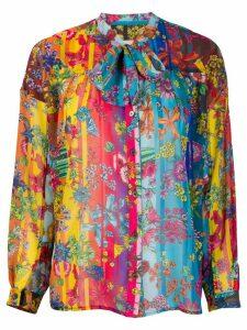 Golden Goose Stella floral-print blouse - Blue